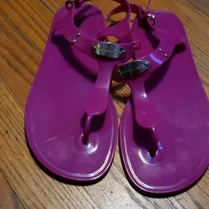 Michael Kors  MK Plate Jelly Sandals-Size 9